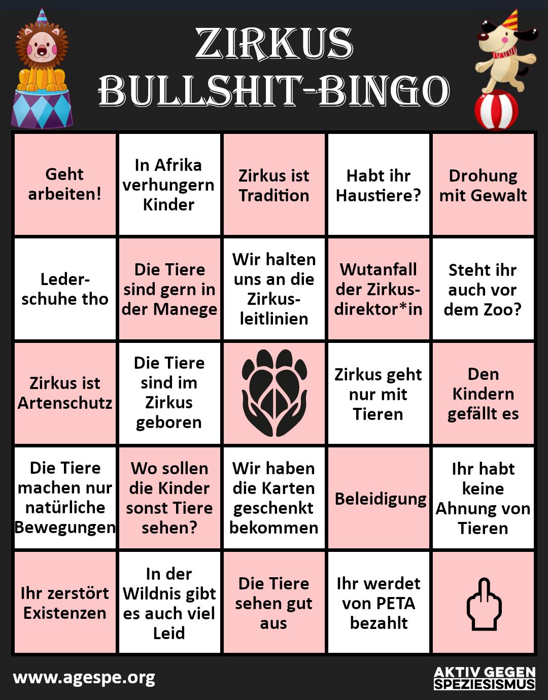 Zirkus Bullshit Bingo