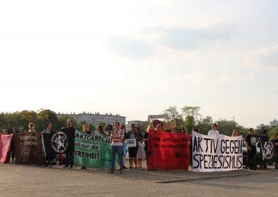 Protest gegen Zirkus Krone Frankfurt