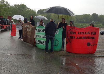 Demo gegen Zirkus Krone FFM